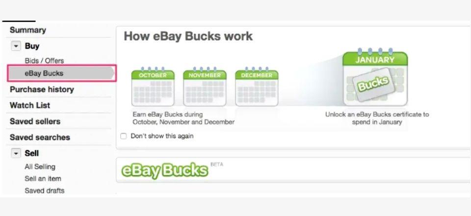 What are eBay bucks?